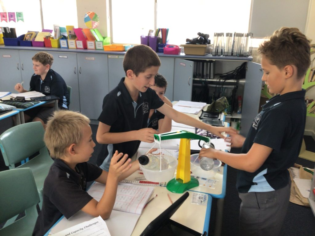 The Year 4/5/6 students have been working extremely hard in maths class.
